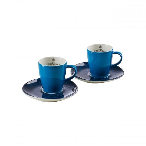 """""""EDELWEISS """" - 2er Espresso Set"""